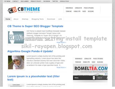 CB Theme - Template Blog SEO Fast Responsive