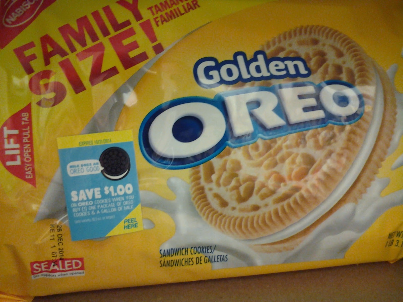 $1.00 off when you buy Oreos and Milk coupon