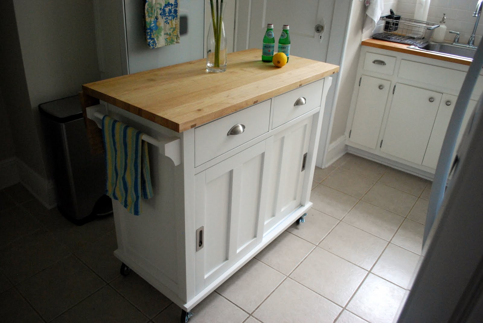 In The Little Yellow House Hello Kitchen Island - Crate and barrel kitchen island