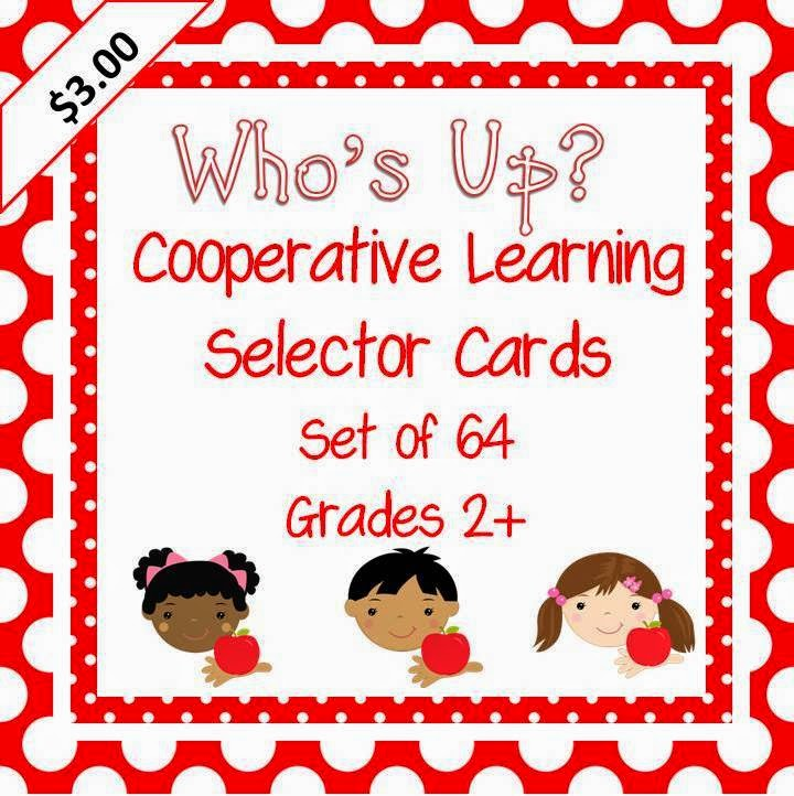 http://www.teacherspayteachers.com/Product/Whos-Up-Cooperative-Learning-Student-Selector-Prompts-set-of-64-300860