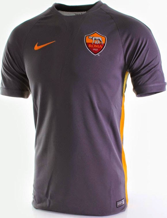 gambar jersey prematch dan training as roma musim 2015/2016