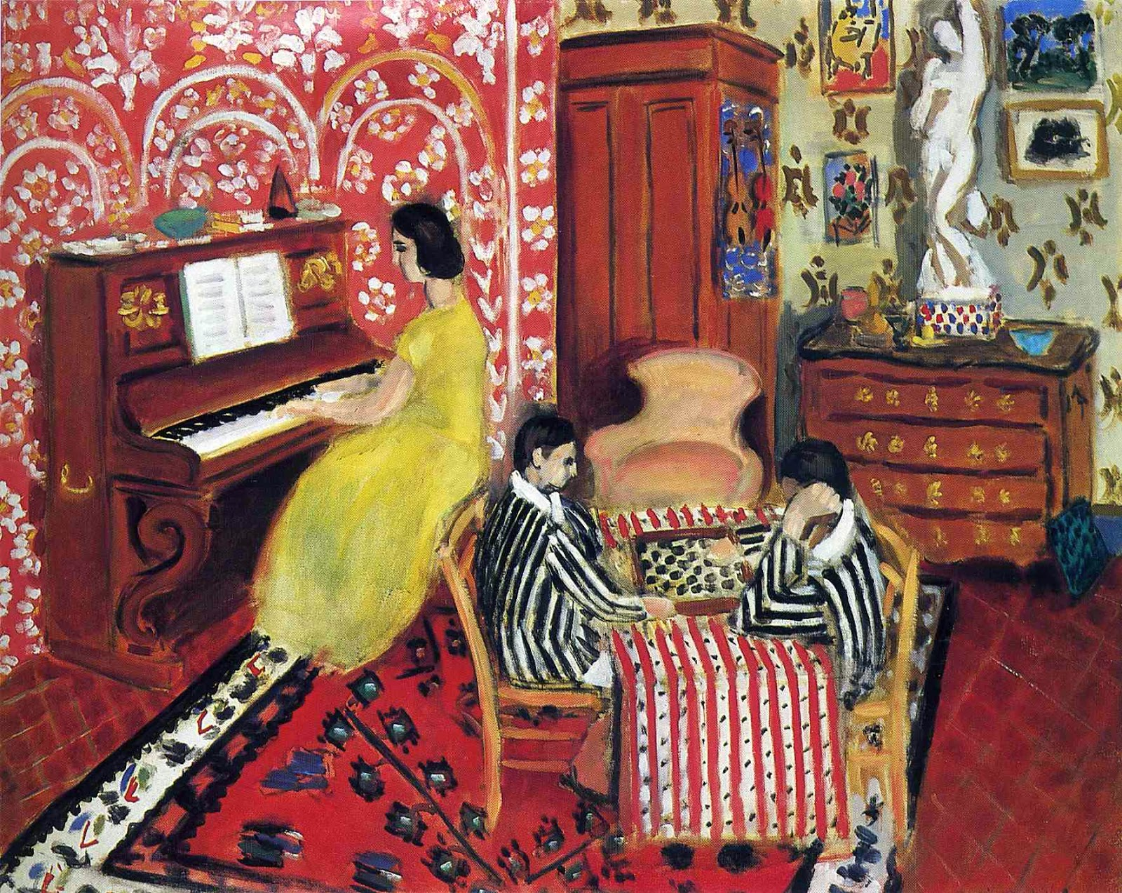 Le curieux Monsieur Cocosse   Journal: Checker Players ... Henri Matisse Woman Reading