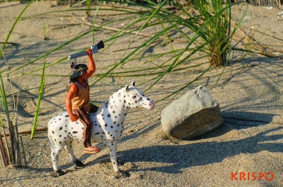 indio a caballo en miniatura