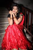 Sowmya glamorous half saree photos-thumbnail-3