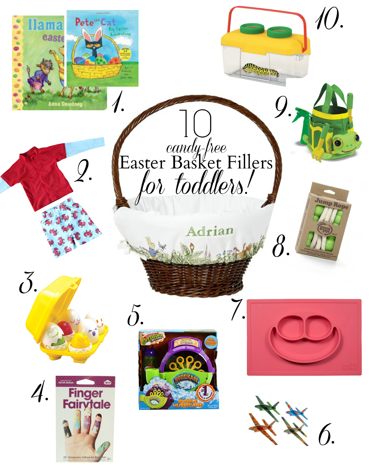 I love you more than carrots 10 easter basket filler ideas for always looking for new ideas heres what youll find stuffed inside the boys baskets this year consider this an official candy free easter basket negle Choice Image
