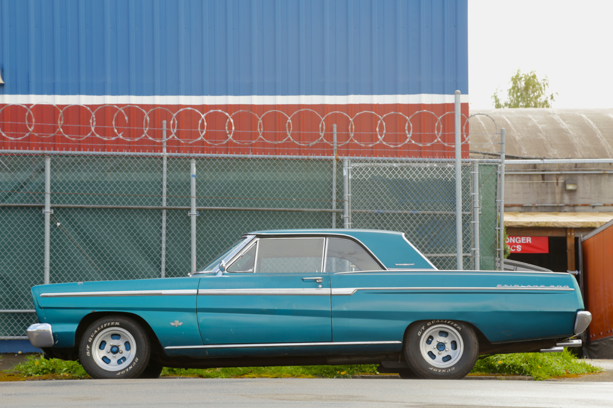 1965 Ford Fairlane 500 hardtop.