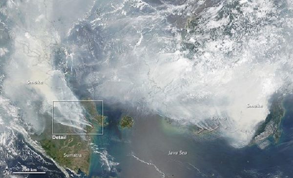 NASA keluarkan gambar Satelit, ramalan Jerebu terburuk dalam sejarah