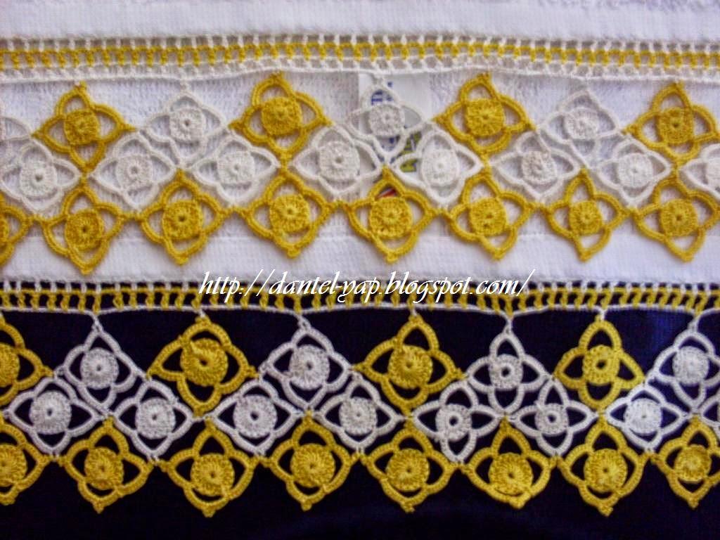 sarı beyaz dantel