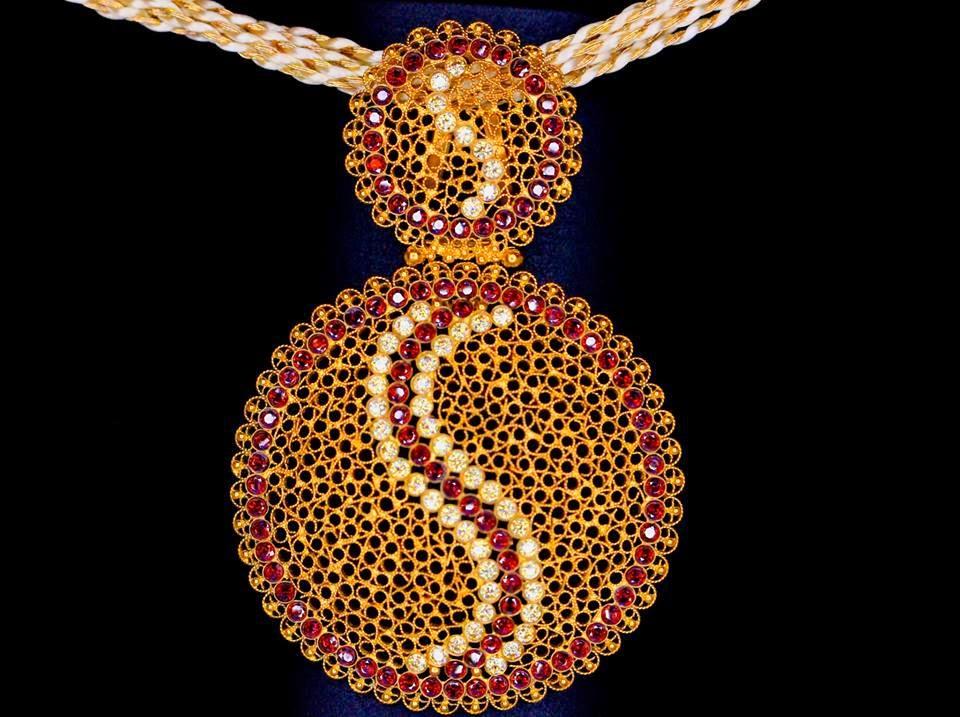 Indian Jewellery Designs: Unique gold pendant designs