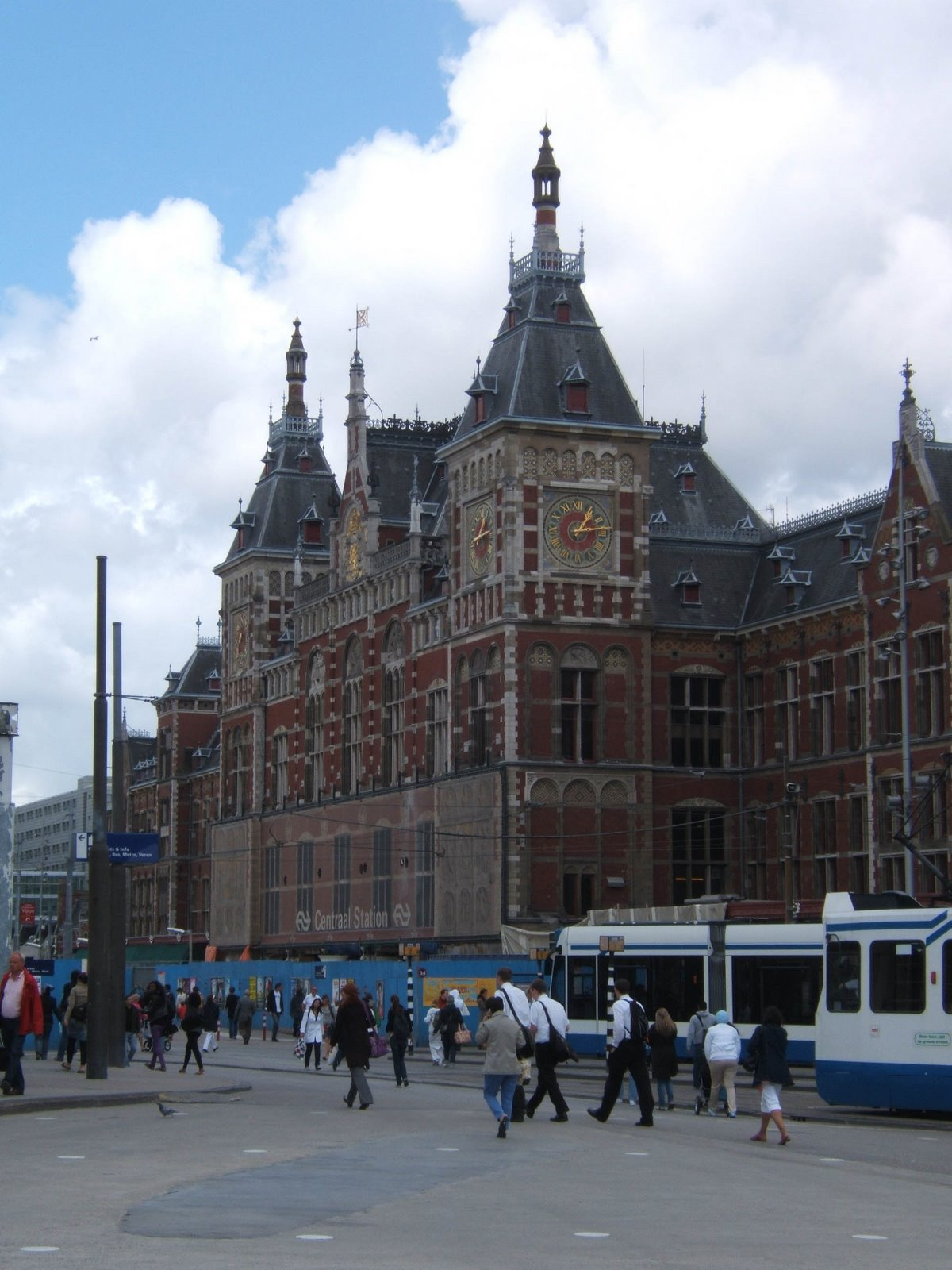 Central Train Station, Amsterdam.  So much fun to ride and watch the trains.