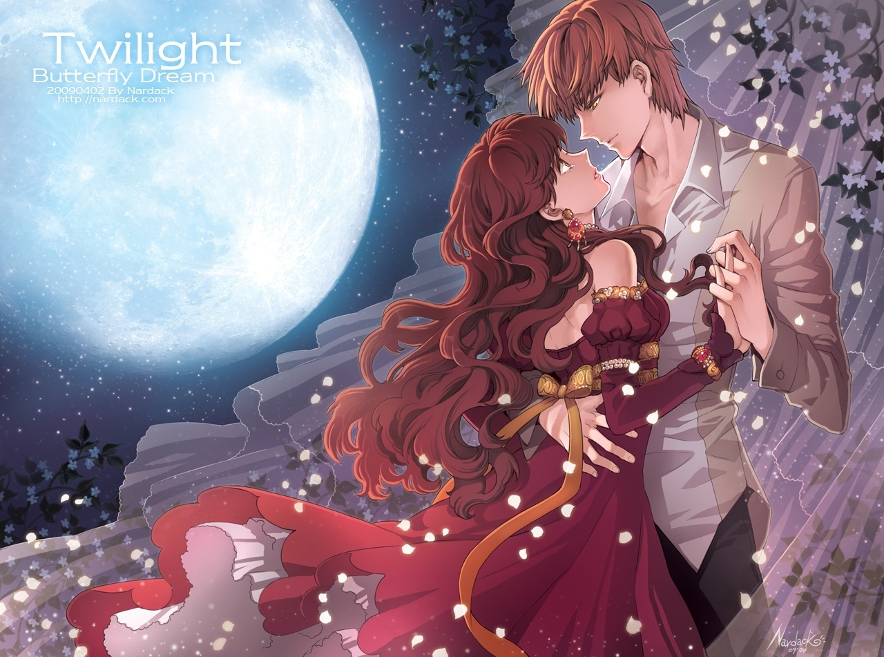 Romantic Love couple Kiss Wallpaper : Wallpaper collection Romantic Love couple kissing: Love couple Anime