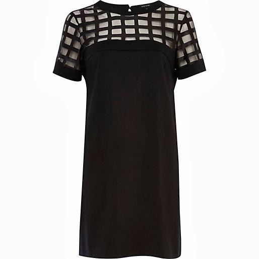 river island black dress