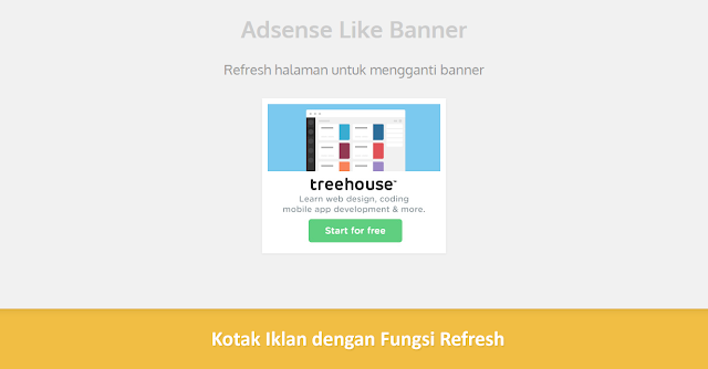 Memasang Widget Kotak Iklan dengan Fungsi Refresh