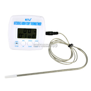 Digital LCD Display Food Thermometer Timer Cooking Kitchen BBQ Probe Meat ER99