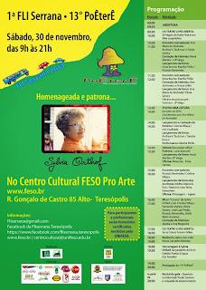 Teresópolis se prepara para a 13ª edição do festival de poesia PoÊterÊ e a 1ª FLI Serrana neste sábado(30/11)