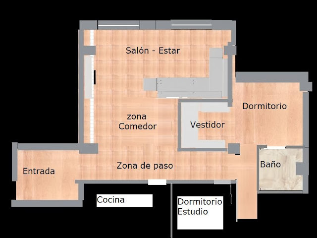 Plano de nueva zonificación del espacio