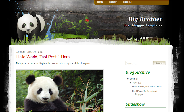 Animal Nature Wildlife Blogger Template