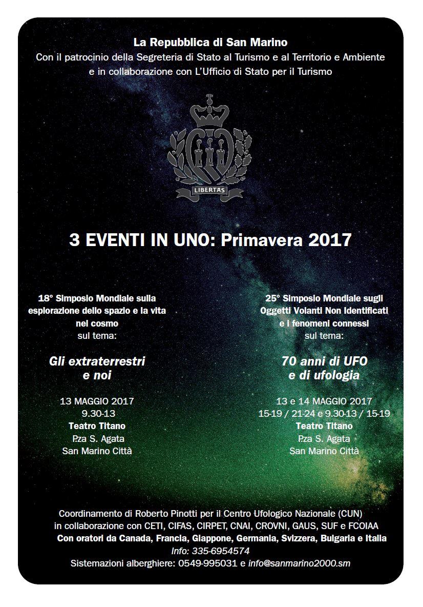 3 EVENTI IN UNO: PRIMAVERA 2017