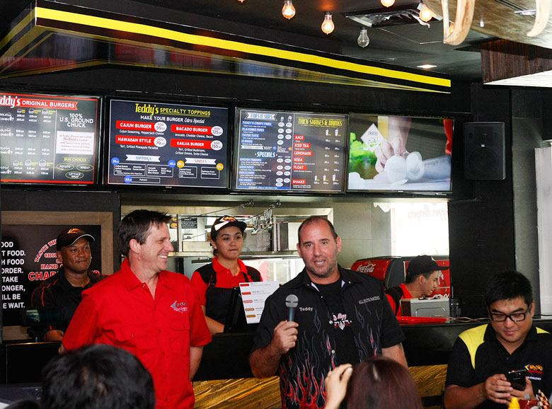 Teddy's Bigger Burgers Founders Ted Tsakiris and Rich Stula