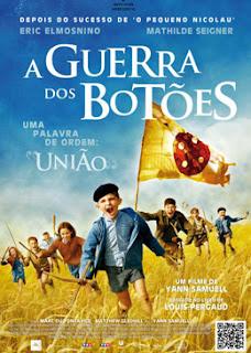 """Pôster brasileiro do filme """"A Guerra dos Botões"""" de 2011"""