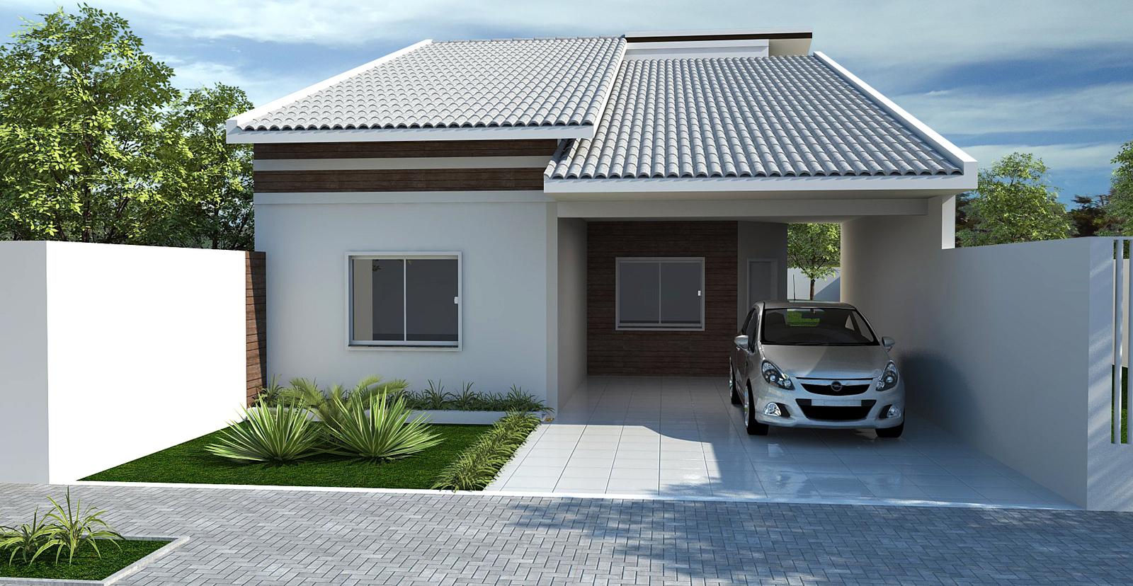 Fachadas de casas e muros veja modelos e dicas for Pisos para casas pequenas