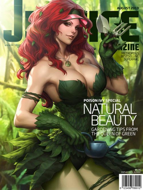 Las Superchicas del artista Stanley Lau en las portadas de Justice Magazine