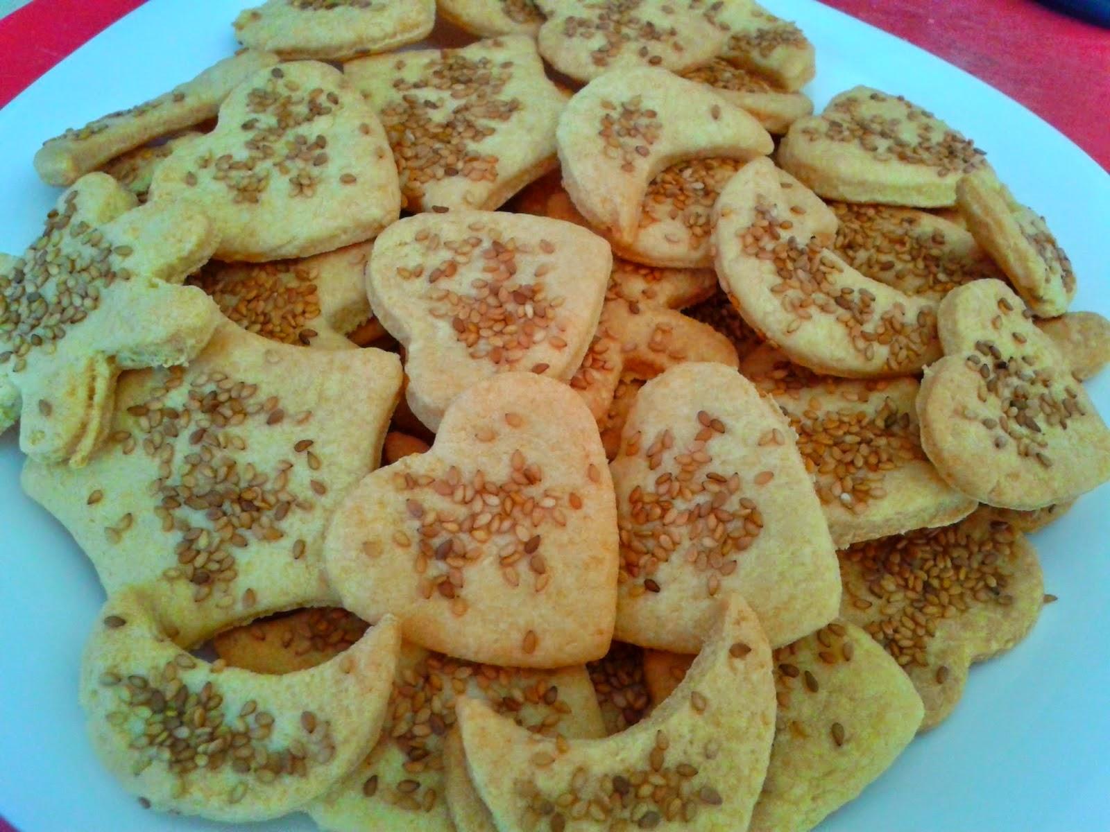 Cookies Saladas con Semillas de Sésamo