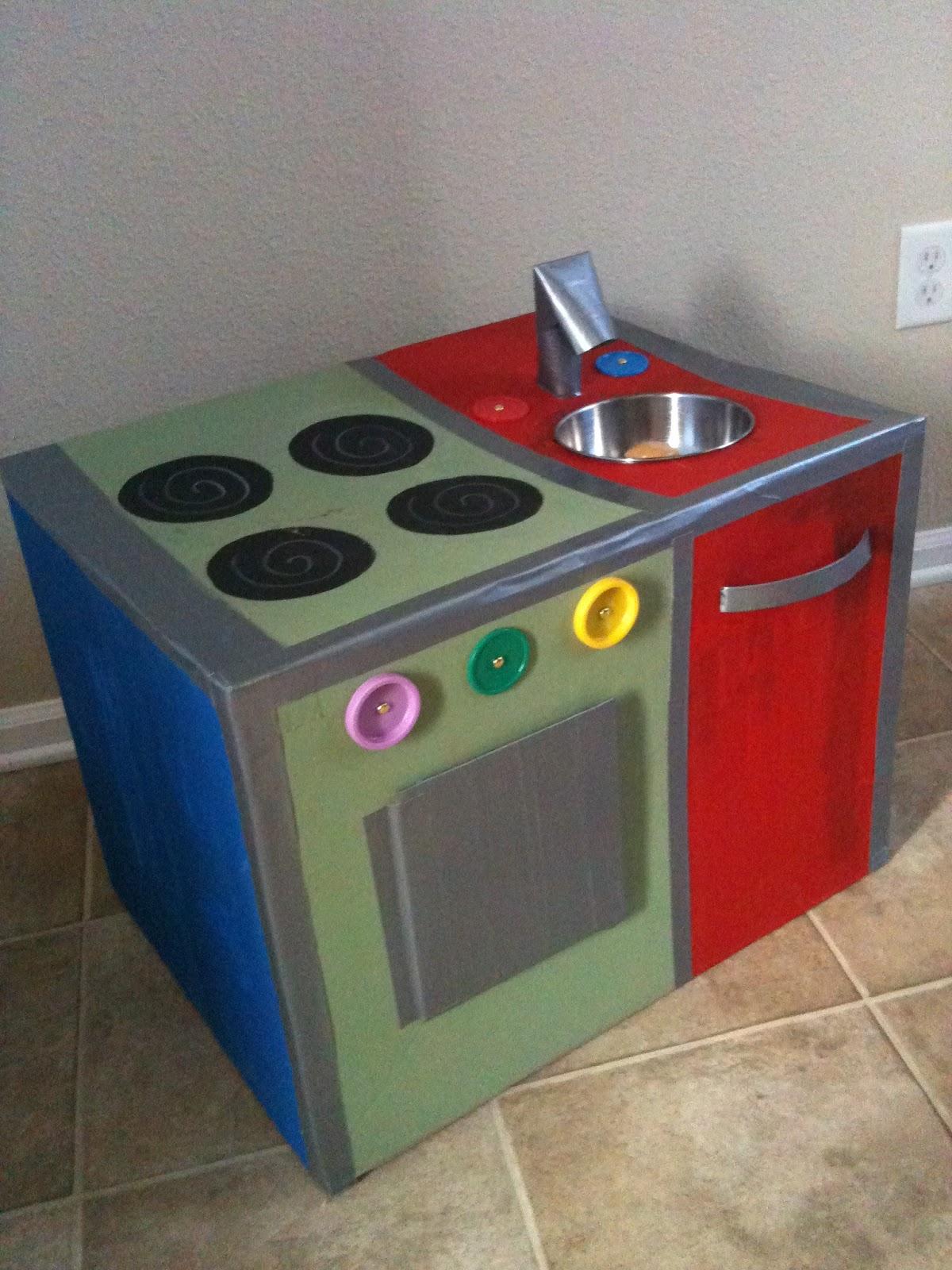 Cardboard Box Kitchen DIY  The Intentional Momma