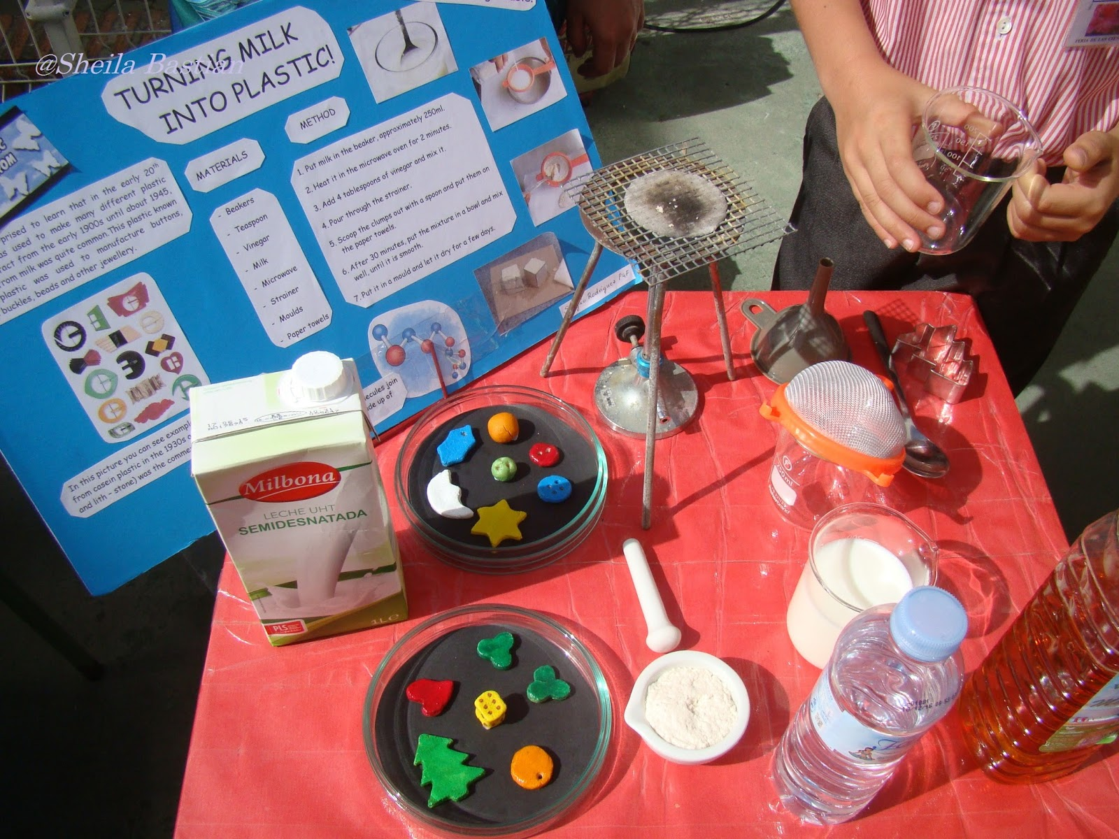 Science Magazine: SCIENCE FAIR PROJECT - TURNING MILK INTO PLASTIC! By ...