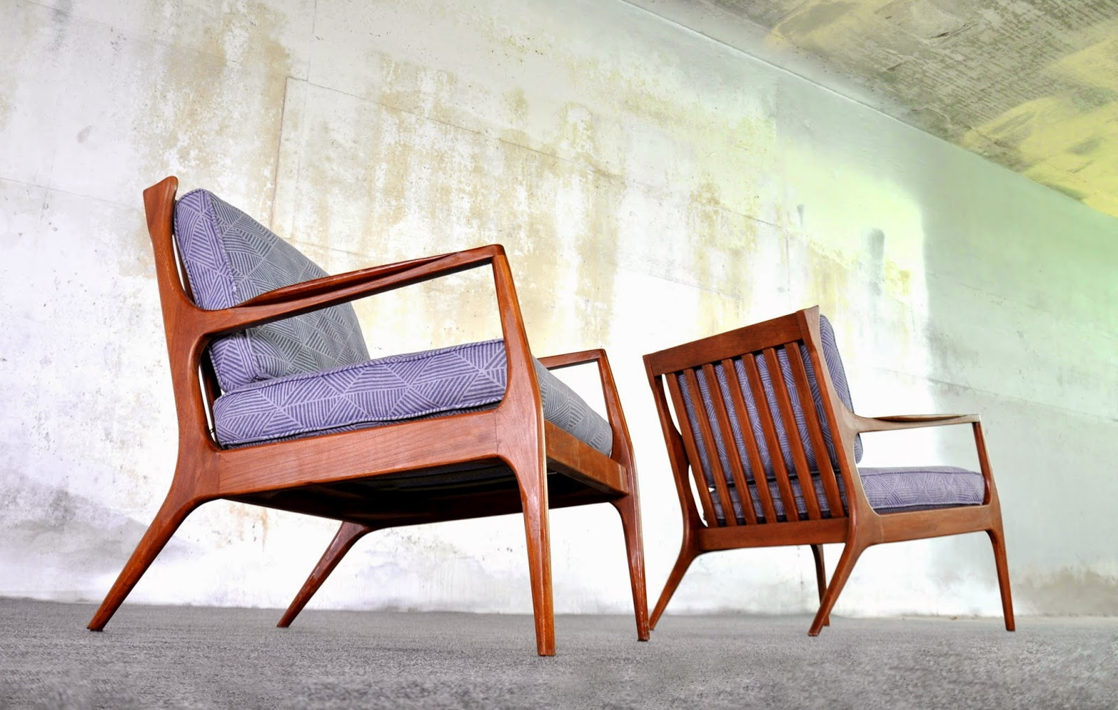 Genial Pair Of Ib Kofod Larsen For Selig Style Lounge Or Easy Chairs