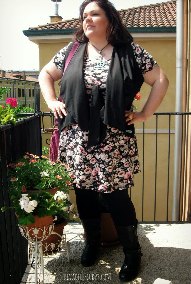 outfit plus size festival boho
