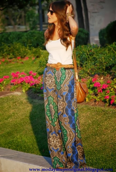 pantalon palazzo con muchos colores y comodos