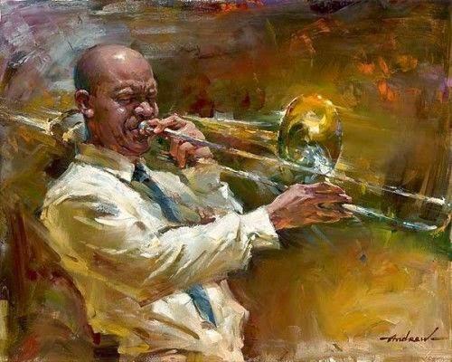 pintura de músico