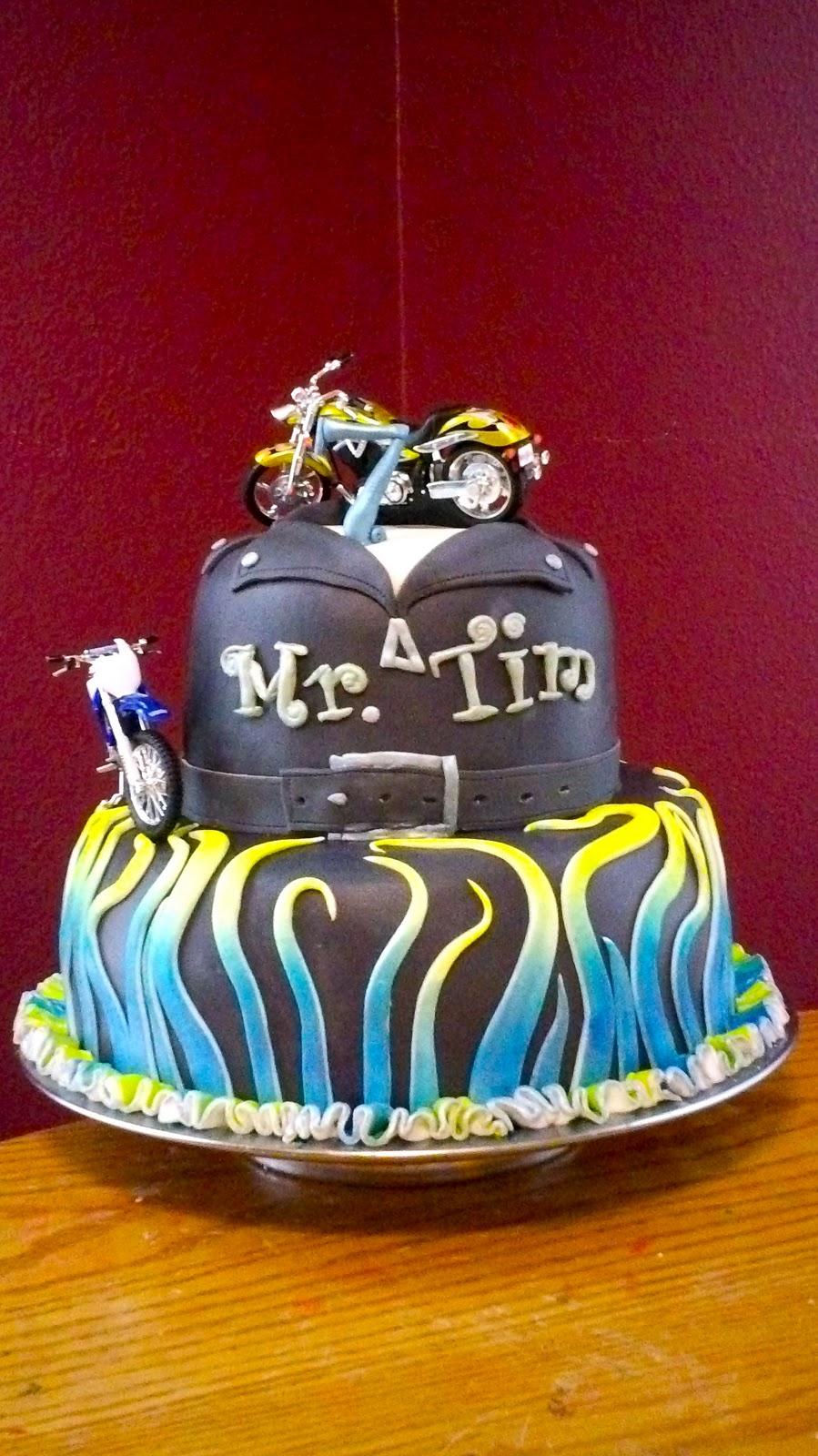 Debbies Little Cakes Mr Tims Biker Jacket Wheels