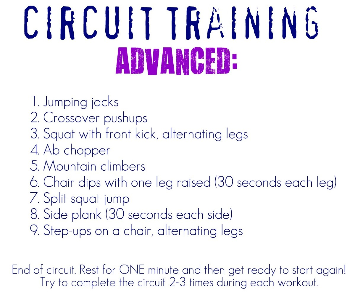 Circuit training workouts at home blissfully ever after for Advanced home
