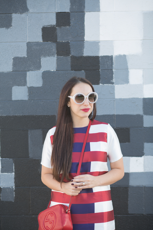 Kingdom and State Fall Stripe Dress