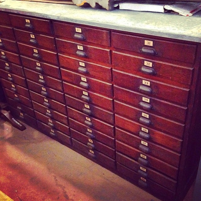 #thriftscorethursday Week 12 Features | Instagram user: brightgreendoor shows off this vintage card catalog.