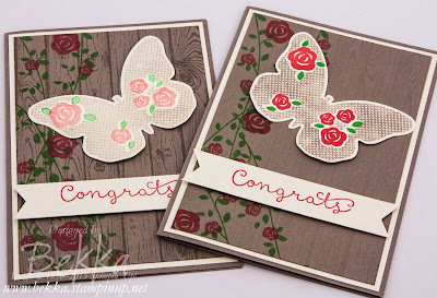 Team Congratulations Card Featuring the Gorgeous Floral Wings Stamp Set From Stampin' Up! UK