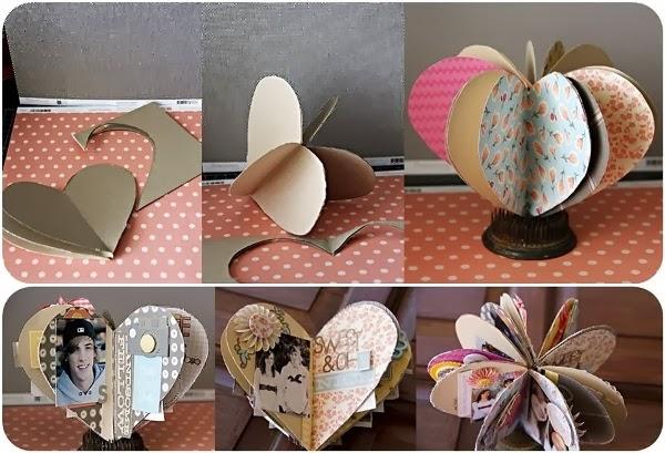 Make a 3D Heart Out of Paper ~ GOODIY: goodiy.blogspot.com/2014/02/make-3d-heart-out-of-paper.html