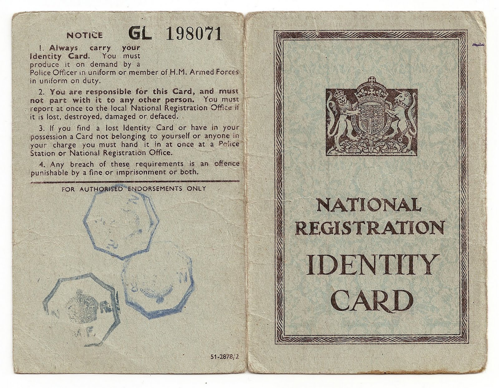 Archive: Adult Identity Card