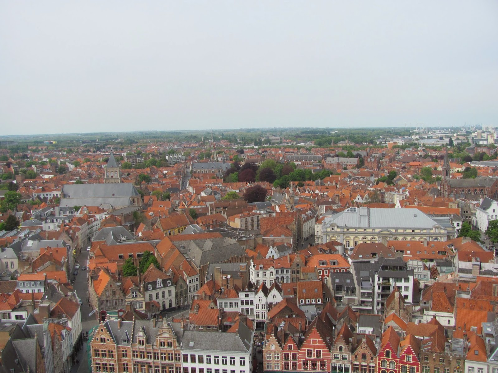 Red Roofs as Far as the Eye can See! Bruges Belgium