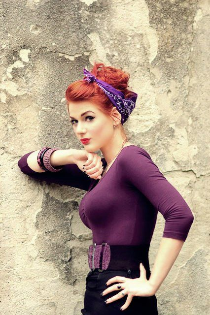 Ivana Gretel Macabre deviantart photos models red hair pin-up vintage