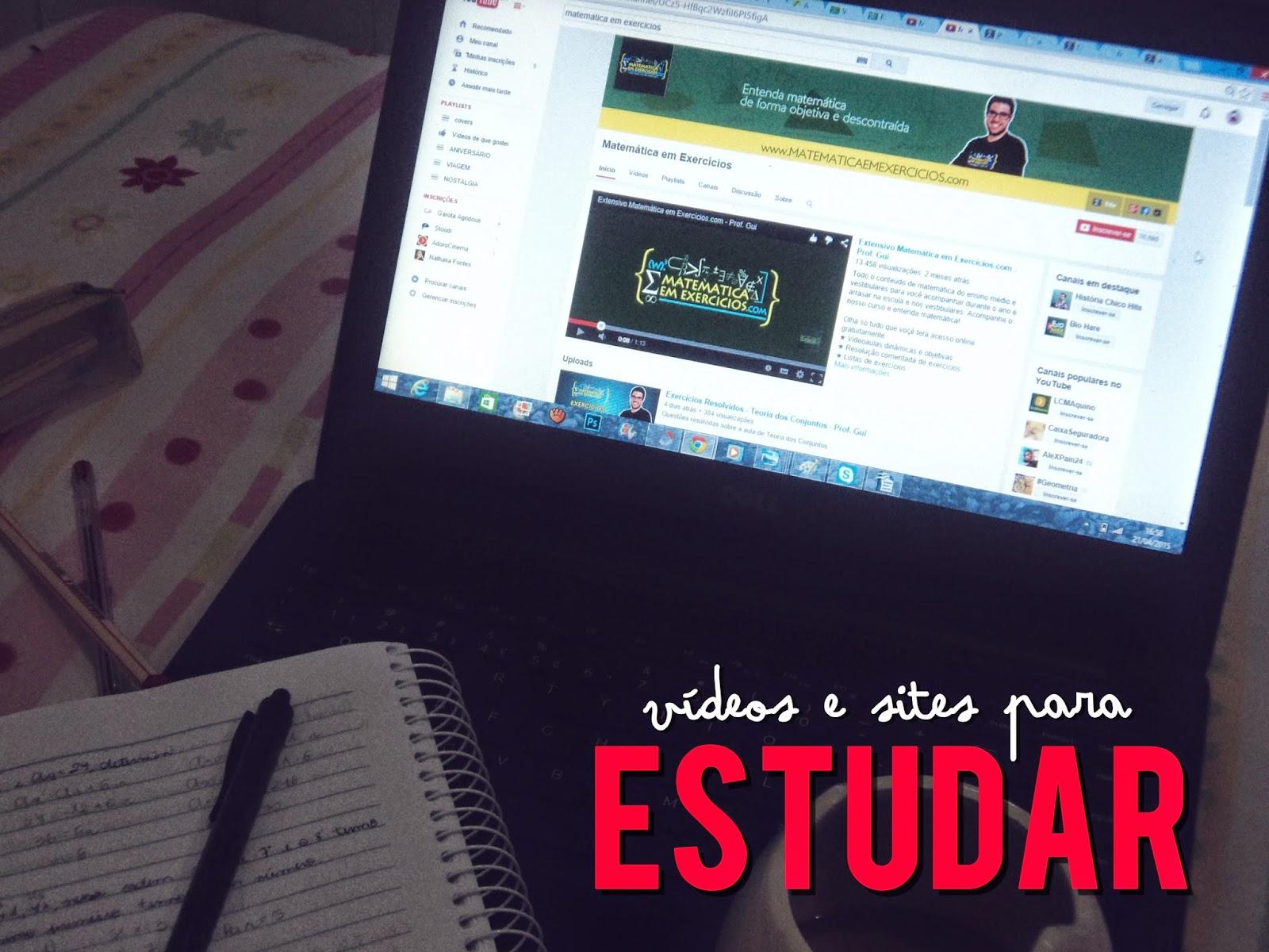 estudar sites vídeos online