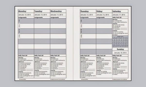 Calendar Planner Vb : The clean house calendar spring student planner