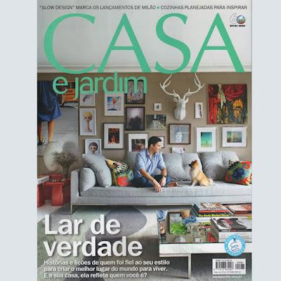 Capa da Revista Casa e Jardim - Maio 2012