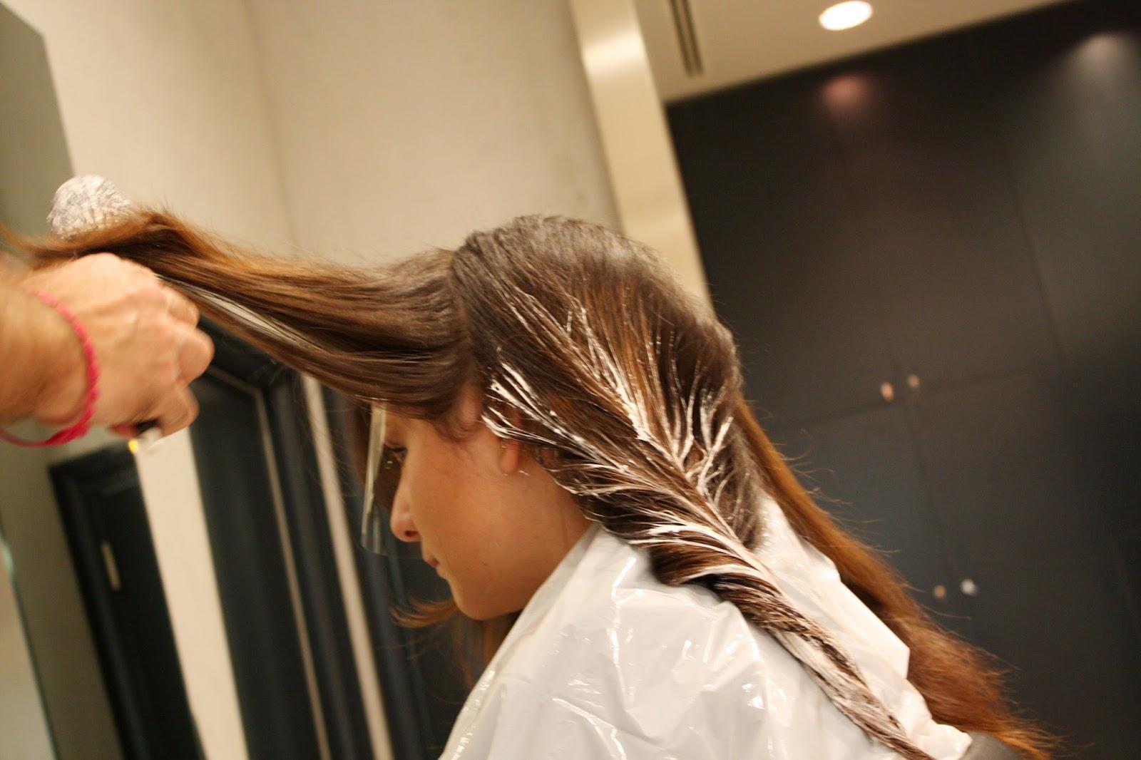 Bagno di colore capelli asciutti