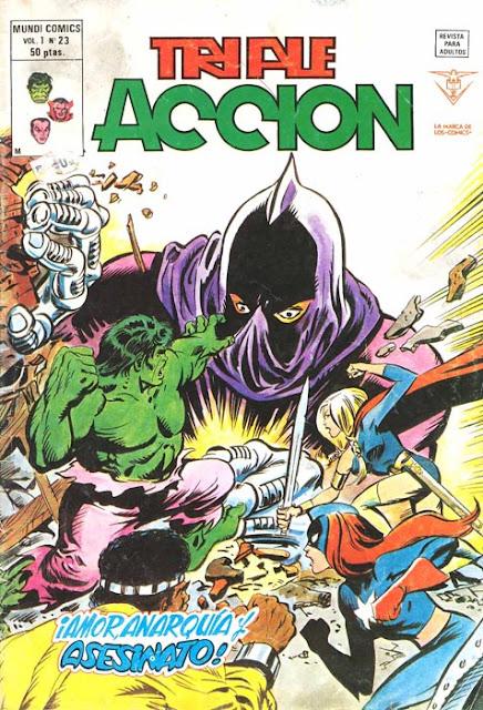 Portada de Triple Acción Volumen 1 Nº 23 Ediciones Vértice