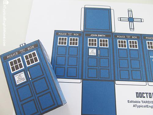 A Typical English Home: Doctor Who Printable TARDIS And Editable ...
