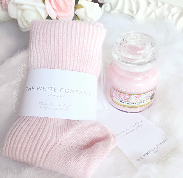 The White Company | Pink Cashmere Socks & Yankee Candle | Snowflake Cookie