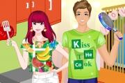 Mutfakta Yemek Yapan Tatlı Çiftler Oyunu